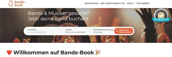Bands-Book - Development, SEO, SEA, Consulting